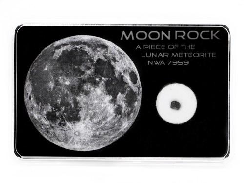 moon rock display