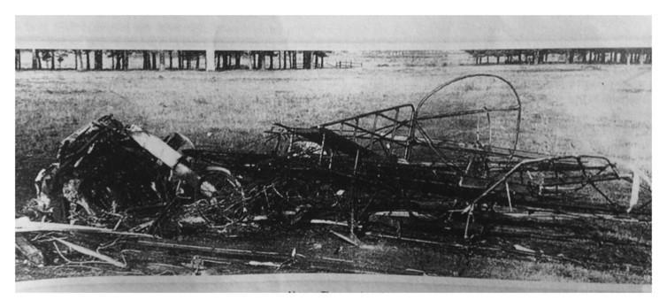 Restos de la aeronave de Busk.