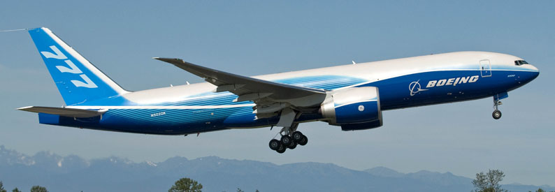 First 777F Freighter Takes Off on B-1 FlightK64503-03