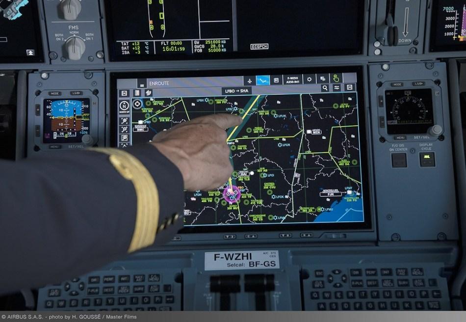 Airbus-Touch-screen-Telas-Sensíveis-Toque-A350-2