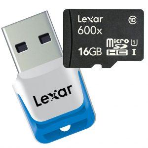 carte Lexar et lecteur USB3