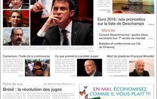 Couv de Ouest-France du 12 mai 2016