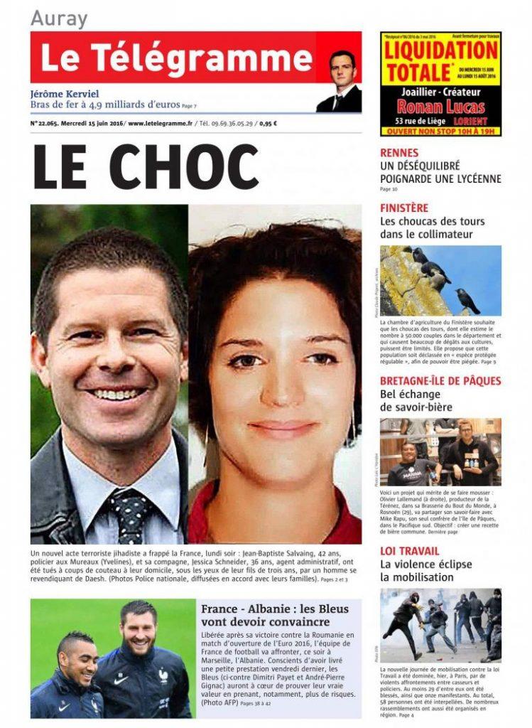 Couv Le Telegramme 15 juin 2016