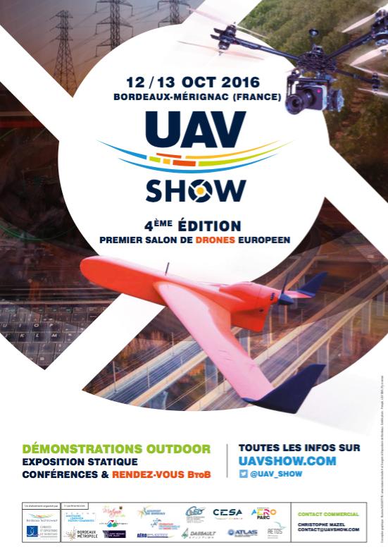 Affiche UAV drones 2016