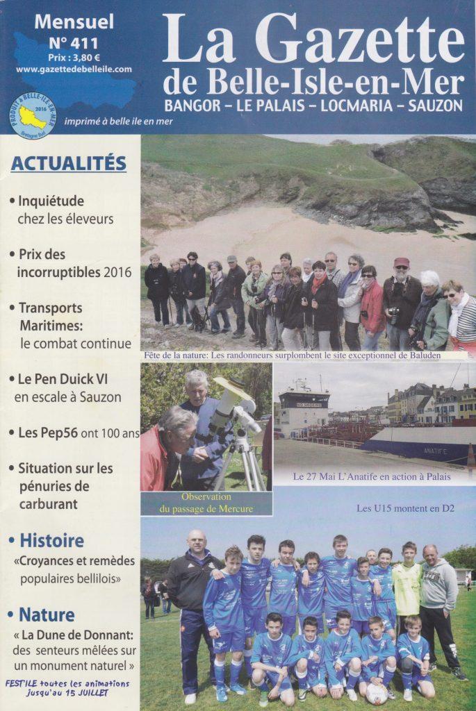 couv Gazette de Belle-isle-en-mer n°411
