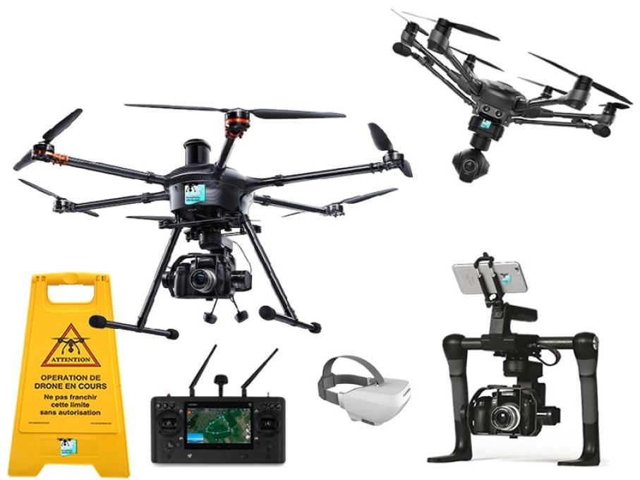 Nouvelle flotte de drones et matériel de prise de vues