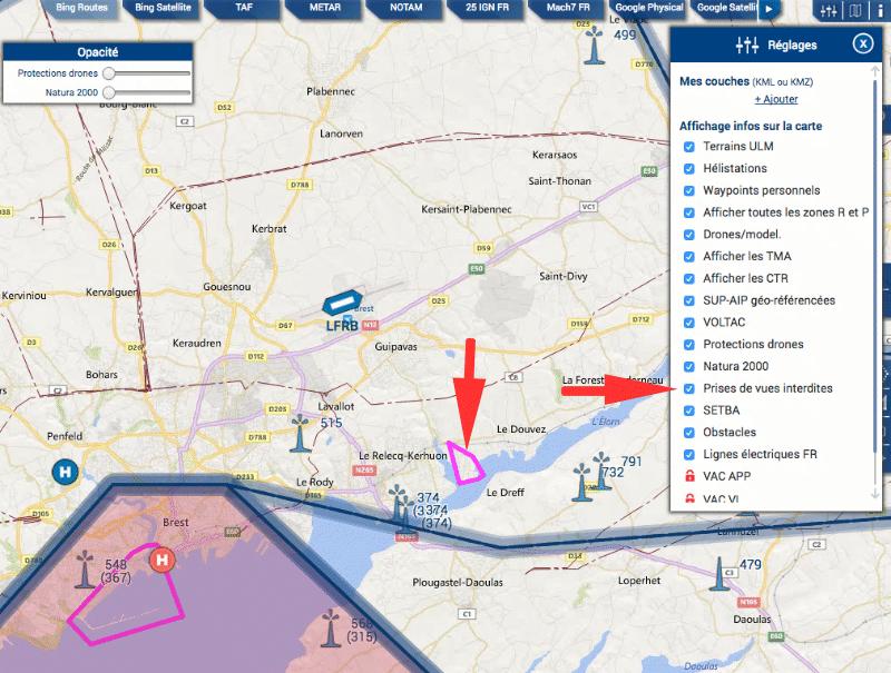 zones Interdites captation aérien Mach7 drones