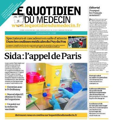 Une quotidien du médecin du 20 juillet 2017