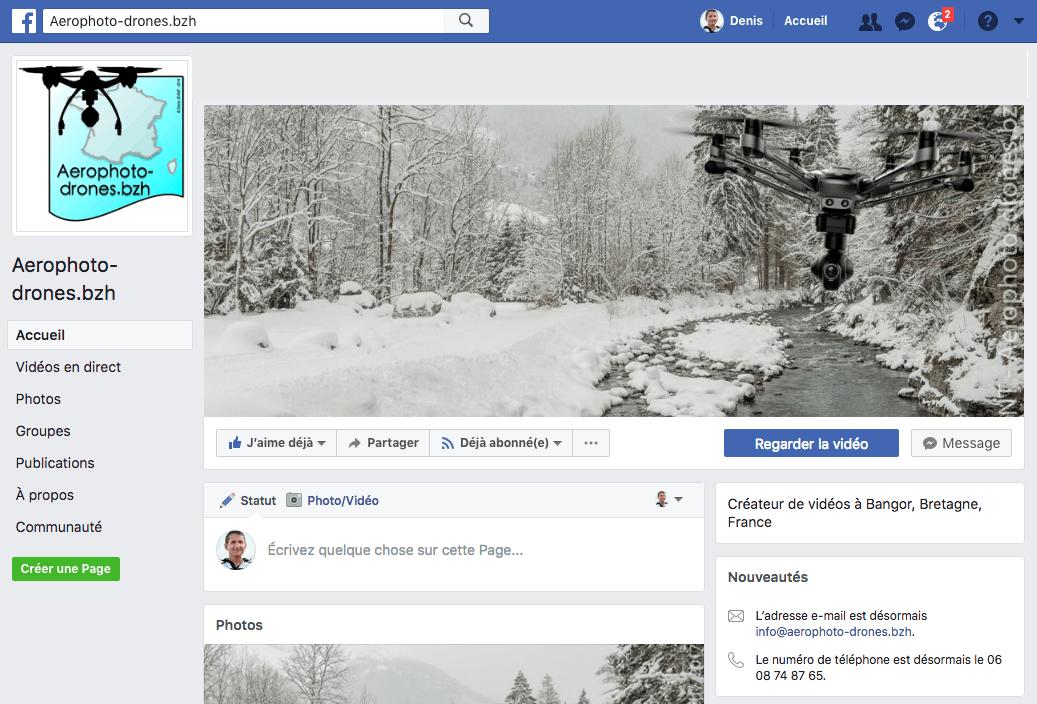 Page Facebook Aerophoto-drones.bzh