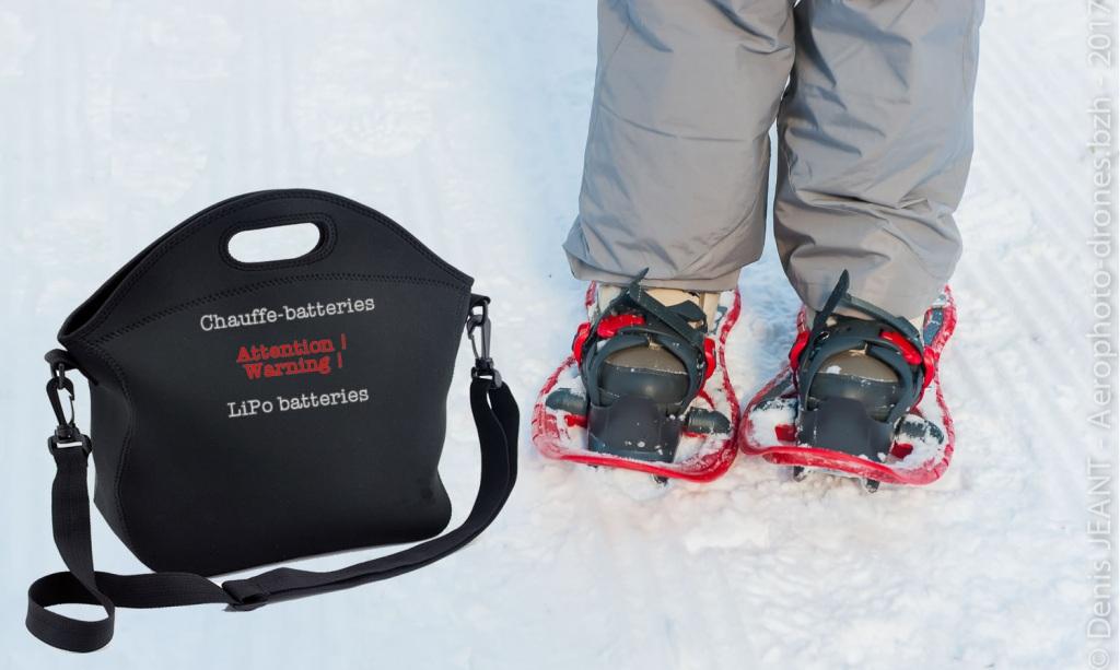 sac chauffe-batteries pour drones