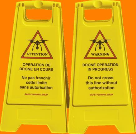 chevalets de signalisation pour opérations de drones