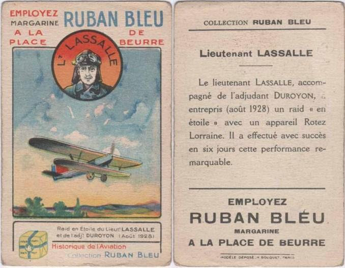 Victor Lasalle dans des cartes publicitaires de collection.