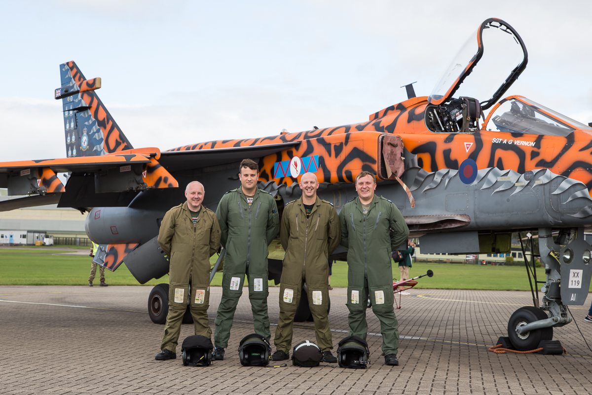 © Adam Duffield - The crew of the final taxi runs - RAF Cosford Jaguars final prowl