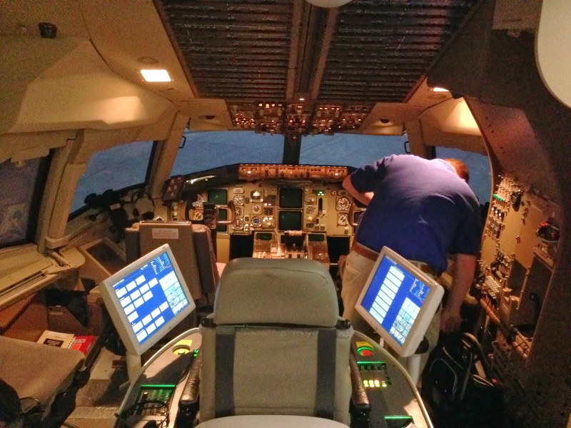 Thales Training & Simulation B-767-300 simulator with instructor station