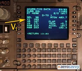 Takeoff Data on an ACARS Display - Recurrent Training - AeroSavvy