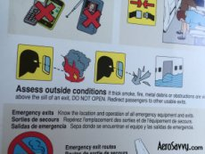 Safety Card for aircraft evacuation