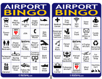 Airport Bingo Cards 1-2