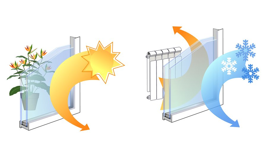 Windows with a Solar Heat-Gain Coefficient can help reduce the heating and cooling costs of your office building