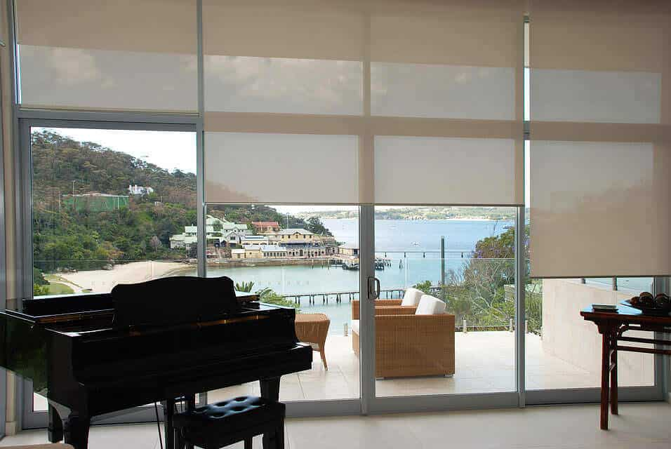 Roller Shade Window Coverings in Los Angeles County with Aero Shade Co
