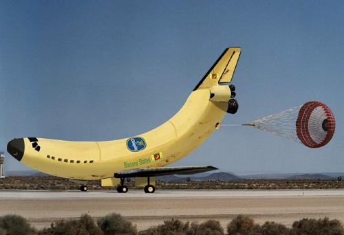 Banana Space Shuttle Picture
