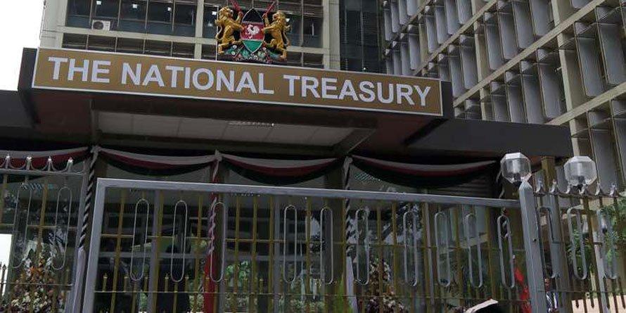 National Treasury building in Nairobi