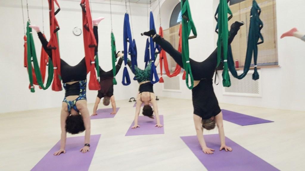 yoga with hammock