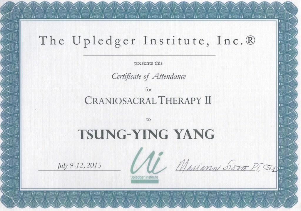 美國顱薦平衡術CST-2授證