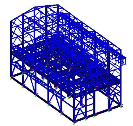 screeing plant Steel Industrial Building Two Story