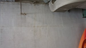 cracked reinforced concrete wall