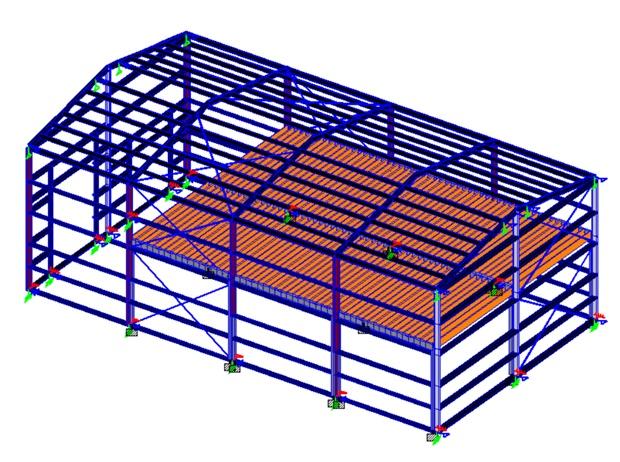 steel building and mezzanine