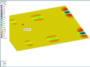 finite element moment diagram on garage pad