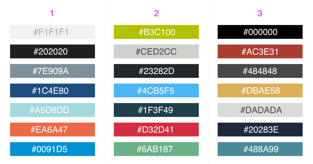 Flat Ui Color Palettes For Business Dashboards
