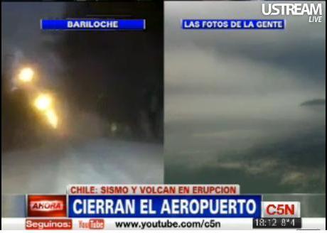 Erupción volcánica Cordón Caulle-Puyehue, Región de los Lagos, Chile (4/6)