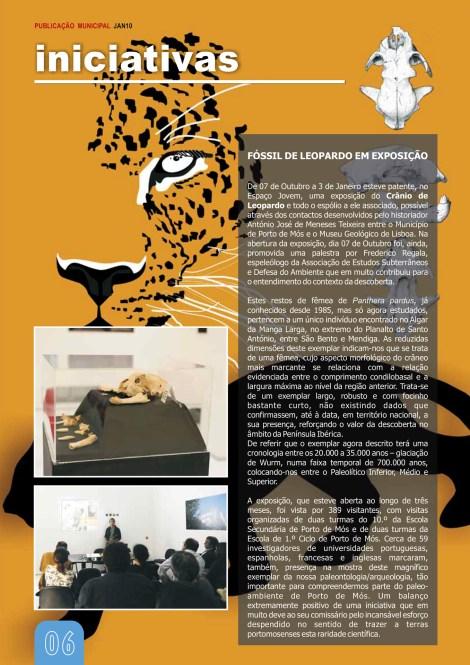 Fóssil de Leopardo em Exposição