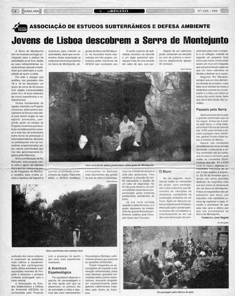 Jovens de Lisboa descobrem a Serra de Montejunto