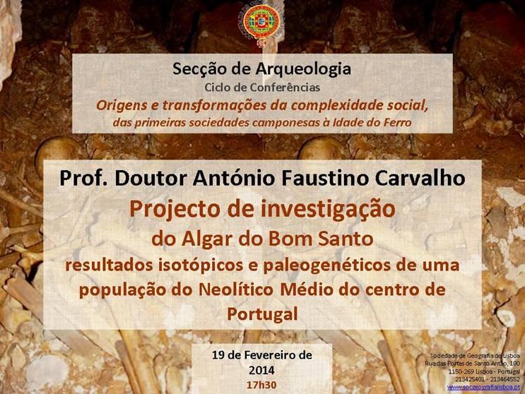 Conferência de António Faustino Carvalho