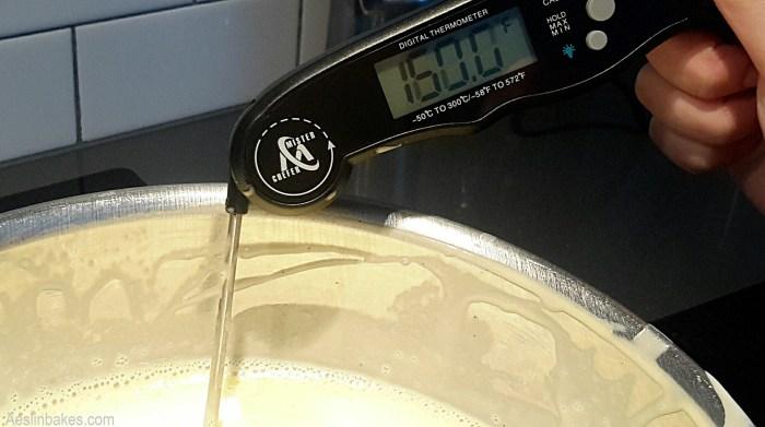 Creme Anglais at 160 degrees Fahrenheit