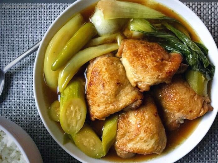 Tinolang Manok with rice