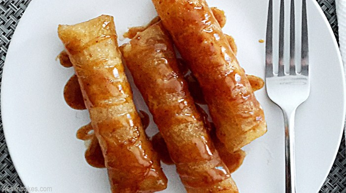 Turon with Brown Butter Butterscotch Sauce