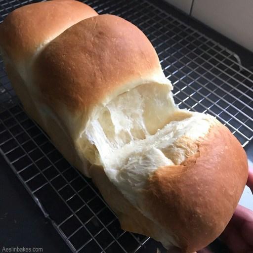 Japanese Milk Bread pulled apart