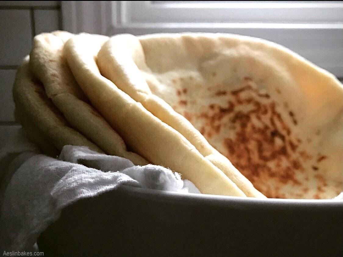 bowl of pita bread wide