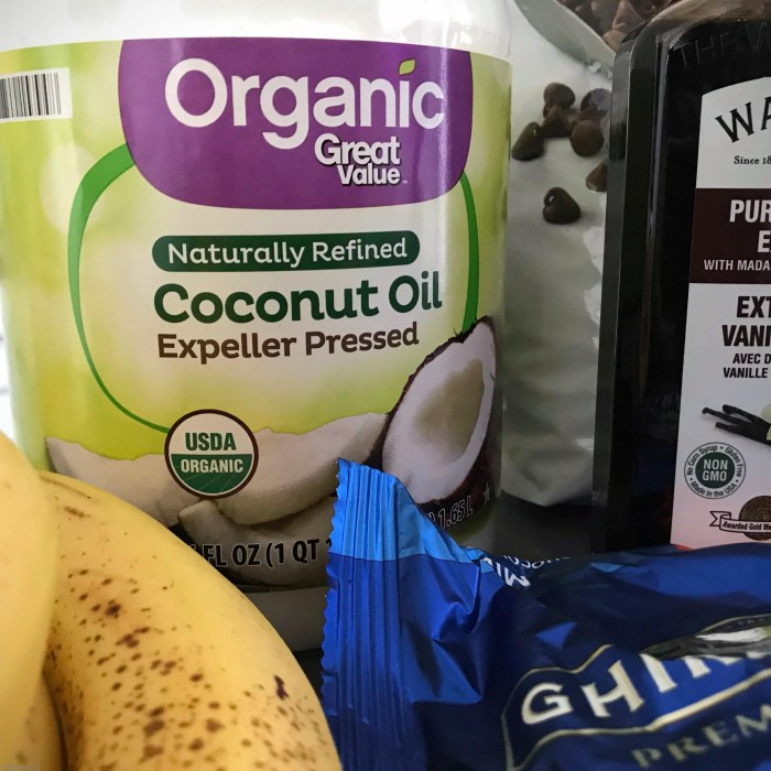 unrefined coconut oil plus other ingredients