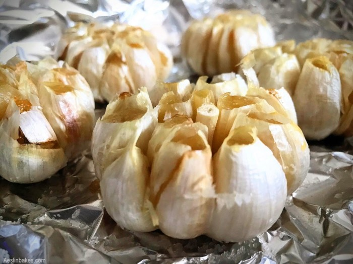garlic roasted in foil
