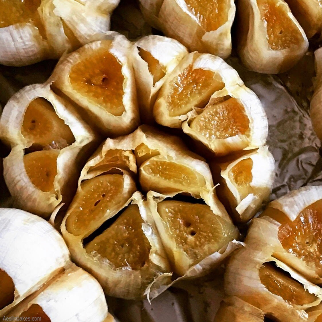 roasted head of garlic