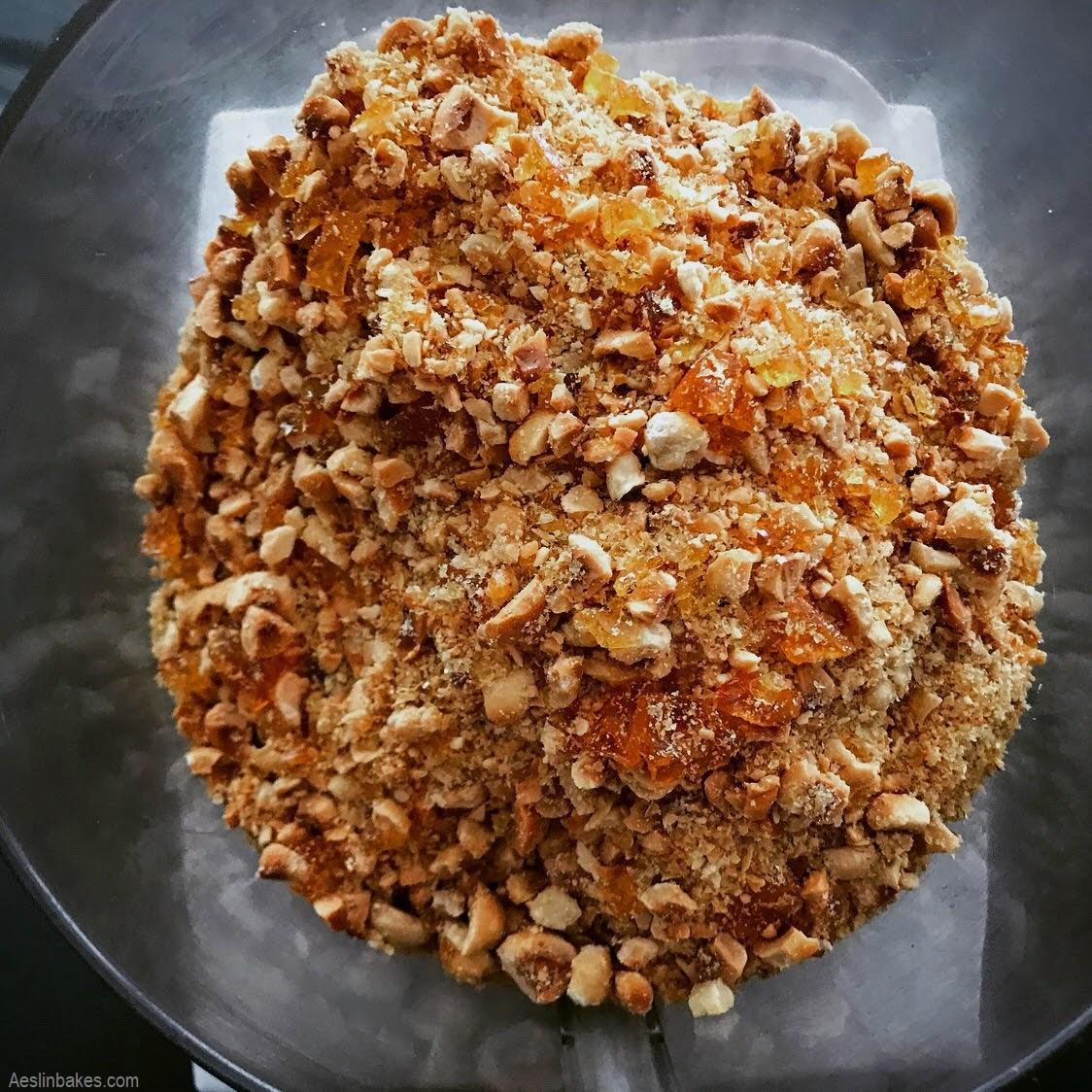 making hazelnut praline paste 1