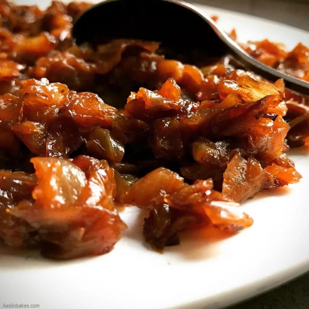 plate of caramelized onions