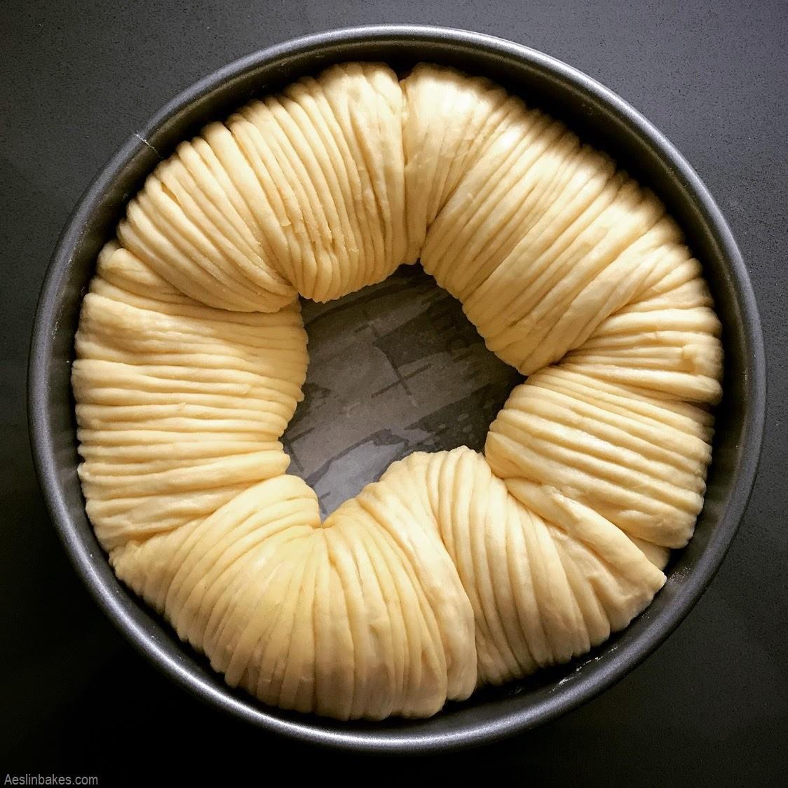 risen brioche wool roll loaf in pan top 2 wide