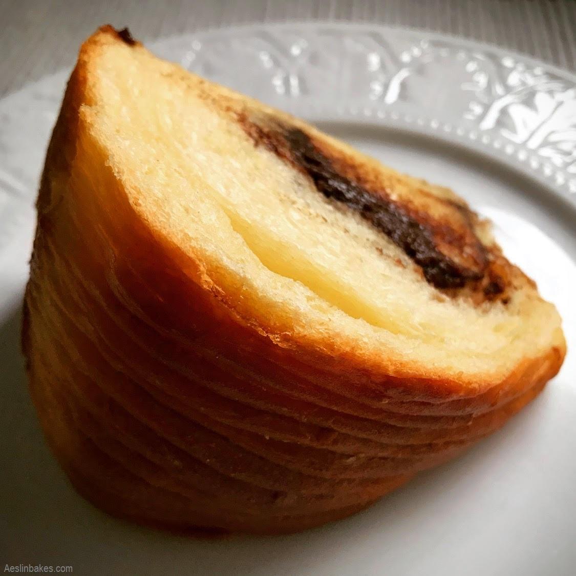 wedge of brioche with praline gianduja