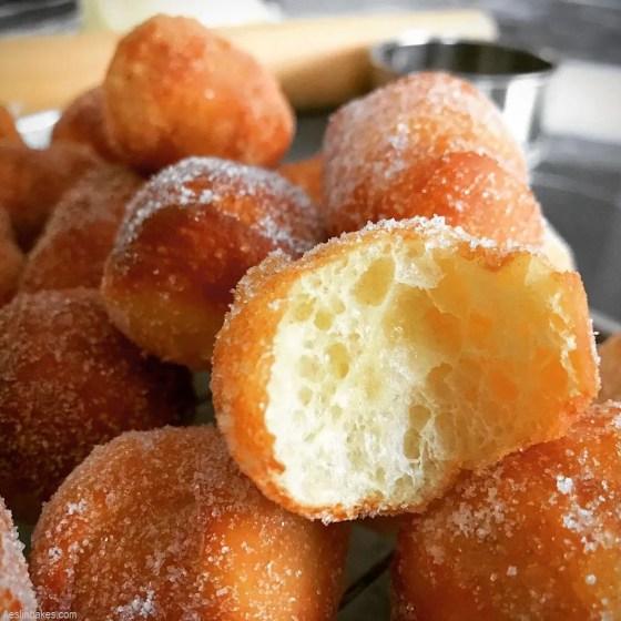bitten brioche sugar doughnuts hole