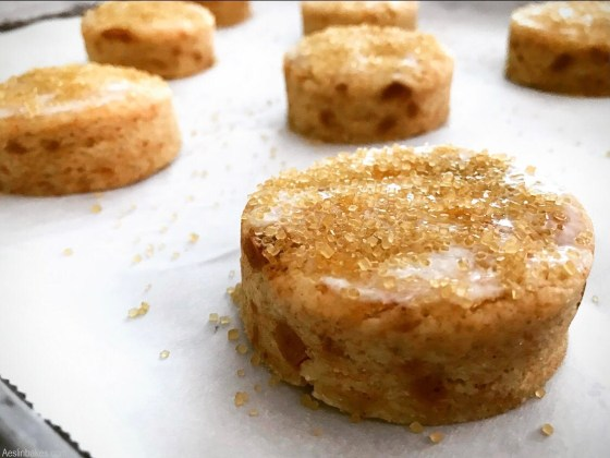 brown butter scone glazed and sugared